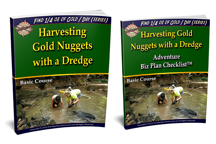 Harvesting Gold Nuggets with a Dredge