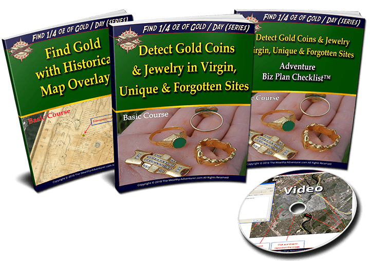 Detect Gold Coins and  Jewelry in Virgin, Unique & Forgotten Sites