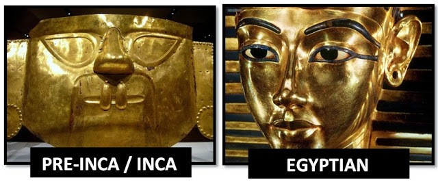 GOLD FUNERAL MASKS