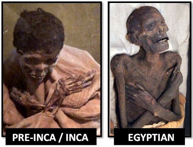MUMMIES WITH CROSSED ARMS