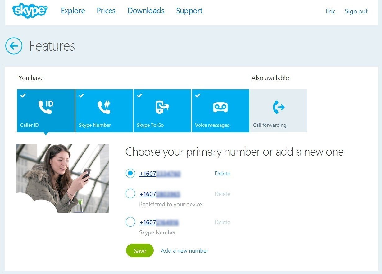 Get a Skype forwarding number and give it to everyone