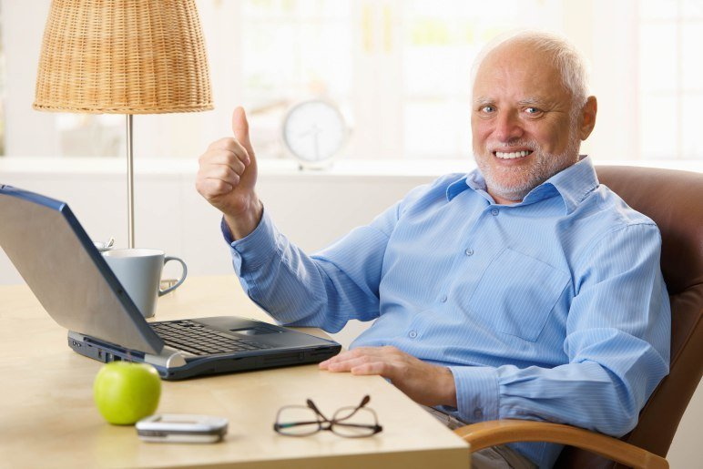 Harold Working at Home