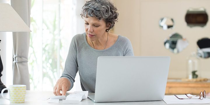 women working from home on laptop