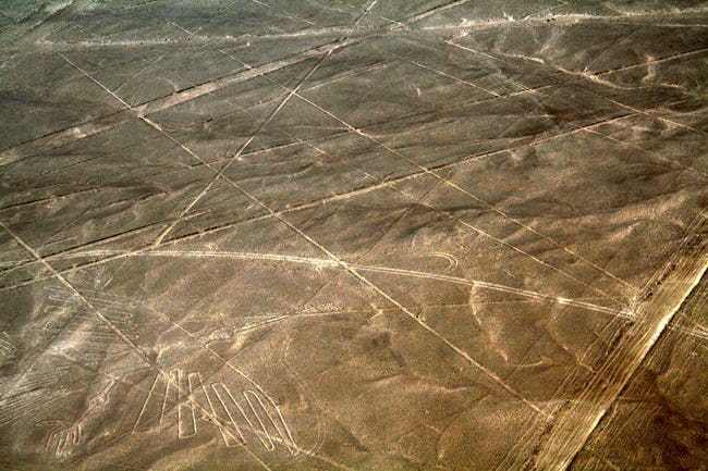 The nazca lines were a man made ancient alien runway